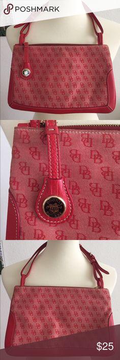 Dooney & Bourke Signature Mini Top Zip Handbag Bag has some wear and slight stains on the edges.Inside looks clean. Dooney & Bourke Bags Mini Bags