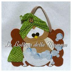 Fuori porta gufoso per il bagno   Per ordinarlo, contattami qui  https://www.facebook.com/La-Bottega-della-Mamma-262207623833688/