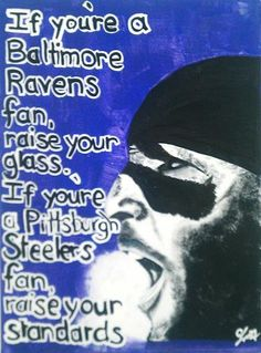 Ray Lewis! Painted this for my Baltimore Ravens fanatic boyfriend. Love this!