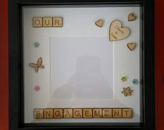 Items similar to Fairytale Scrabble Frame Wedding Engagement Love on Etsy Disney Wedding Gifts, Scrabble Frame, Wedding Frames, Wedding Engagement, Fairytale, Unique Jewelry, Handmade Gifts, Etsy, Fairy Tail