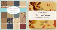 Moda Fabric Sticks and Stones Charm Pack