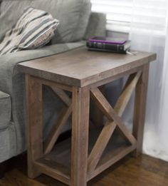 perfect end table rustic farmhouse style I love the narrow design