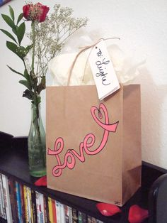 Love Hand Painted Gift Bag