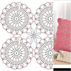 Crochet Diagram, Crochet Motif, Napkins, Cushions, Rugs, Home Decor, Towels, Farmhouse Rugs, Craft