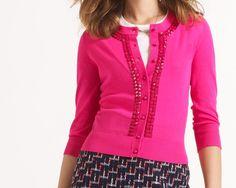 #katespade | all aboard kati embellished cardigan in gulabi pink @Kat Ellis spade new york