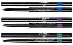 Chanel L.A. Sunrise Spring 2016 Collection | Chanel Stylo Yeux Waterproof -  Fervent Blue – bright blue Purple Choc – purple Pacific Green – emerald