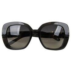 Pre-Owned Bottega Veneta Women's Black Intrecciato Oversized... ($310) ❤ liked on Polyvore featuring accessories, eyewear, sunglasses, black, over sized sunglasses, oversized glasses, oversized sunglasses, bottega veneta eyewear and bottega veneta glasses