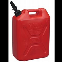 Clever Market Gas Tank Metal Automotive Jerry Can Fuel Steel Tank 5 Gallon Gal Solid Holder Military Red NATO Army Style Durable Gasoline Tank 20L Pack of 2