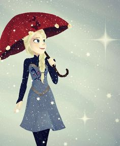 Elsa under the snow by TheBirdFromTheMoon on DeviantArt