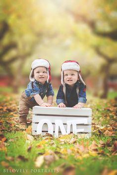 Sauvie Island, Twins Boys, First Birthday, One Year Old, Fall Leaves, Orchard, Autumn (BeLovely Baby, Children's Portraits, Oregon Photographer, Tanasbourne, Hillsboro, Portland, PDX) BeLovely Baby.com