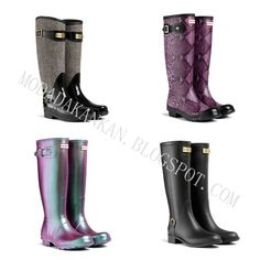 What's New for Autumn - Hunter Boot Hunter Rain Boots, Fashion Shoes, Autumn, Shopping, Collection, Women, Style, Swag, Fall