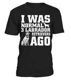 I Was Normal 3 Labrador Retrievers 1 Ago Funny Gifts T-shirt