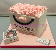 Pandora Cake 40th Birthday Cakes, Birthday Cakes For Women, Birthday Ideas, Shoe Cakes, Cupcake Cakes, Cupcakes, Girly Cakes, Special Holidays, Designer Purses