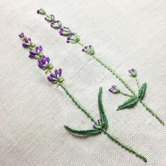 Fantastic embroidered lavender!
