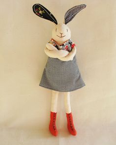 happy and confident bunny (bunny by Virginia Otten)