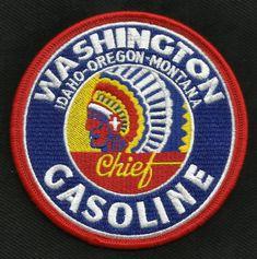 Vintage Style Washington Gasoline Chief Biker Patch