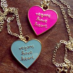 Wear your heart on your sleeve … er, around your neck … with this charming engraved pendant. The gold-filled chain is easy on sensitive skin, just as vegans are easy on sensitive animals. These necklaces are the perfect Valentine's day gift for the vegan in your life!! <3
