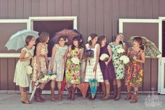 this wedding party has style.