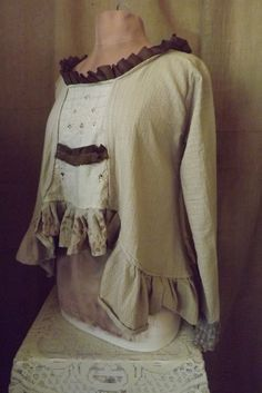 Lagenlook Romantic Boho Blouse Victorian by bluemermaiddesigns