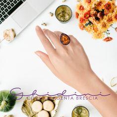anello in argento e semipreziosi #ring #silver #ghidinigioielli #brescia #bresciacentro #orange #pc #picoftheday #black #primavera