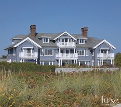 The #exterior of a #NewJersey home transformed into a bright #beach haven. See more at www.luxesource.com. #luxe #luxemag #luxury #design #interiordesign #interiors #exterior #architecture #home #house #dwelling #residential #decor #homedecor #interiordecorating #interiordesignideas #beachside