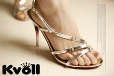 Designer-Damen-Schuhe-Riemchen-Sandalen-Pailletten-Schwarz-Silber-UVP-24-90