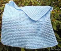 Powder Blue Baby Blanket | AllFreeCrochetAfghanPatterns.com