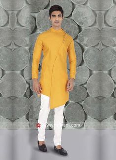 Indian Dresses Online, Indian Clothes Online, Mens Ethnic Wear, Kurta Patterns, Ethenic Wear, Fancy Buttons, Yellow Fabric, Kurta Designs, Maroon Color