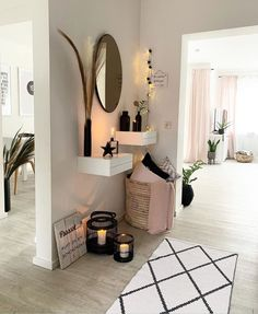 Home Decor For Small Spaces .Home Decor For Small Spaces Condo Decorating, Hallway Decorating, Entryway Decor, Decorating Your Home, Home Room Design, Home Interior Design, House Design, Living Room Decor, Bedroom Decor