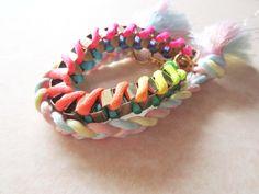 Rainbow Braided Bracelet S$16   from: www.vyrra.com