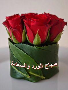 صباح الورد والسعادة تصميمي