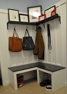 L Shaped Mudroom Cubbies Google Search Small Entry