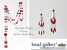 #LadyEdith #Necklace & #Earrings by Denise H. H. Yezbak Moore. Had a similar idea but didn't think of a center drop.