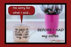 Hoping youll love this post... Before I Had My Coffee http://crwd.fr/2h7MDAl - coffeenwine.com  #coffeelover #lovemycoffee #coffeetime