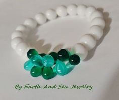 Snow White Snow Bright Green Teal Winter by URStyleJewelry on Etsy
