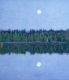 Two Moons - Kaii Higashiyama, 1986 Japanese, 1908–1999 Lithograph, 51.3 x 45 cm. (20.2 x 17.7 in.)