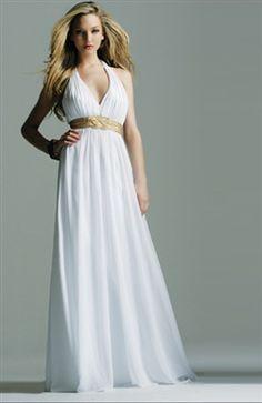Chiffon Ruffles Floor-length Halter #Prom #Dress Style Code: 00764 $109