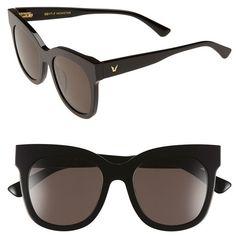 Gentle Monster 'Black Sheep' 53mm Cat Eye Sunglasses (950 RON) ❤ liked on…