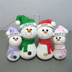 Snowman Family polymer clay Ornament | Flickr - Photo Sharing!