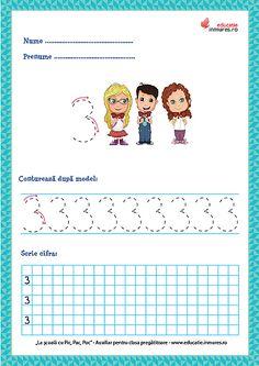 Set de fișe de lucru cu exerciții de scriere corectă a cifrelor ( 1-9) și numărul 10. se pot descărca gratuit în format PDF pentru print. Preschool Learning Activities, Preschool Activities, Math 2, Numbers Preschool, Teacher Supplies, Coloring Pages, Crafts For Kids, 1, Teaching