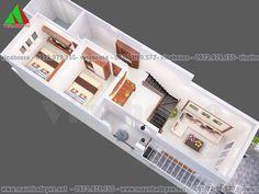 Mẫu thiết kế nhà đẹp có gác lửng 5x16,5 mặt tiền mái thái M49- 550 triệu Lunges, Future House, House Plans, House Design, How To Plan, House Styles, Interior, Abu Ahmed, Home