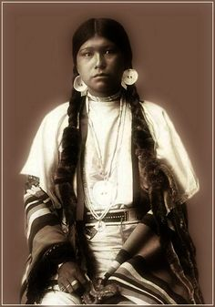 Yakima Native American Woman. Photo taken 1905.