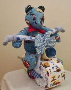 ONE OF A KIND Disney Cars Diaper Cake Motorcycle. $65.00, via Etsy.