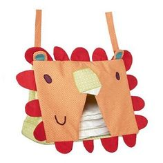 Jamboree Nappy Stacker - $69.95 - A convenient way to store your nappies.   Ideal storage for towelling and disposable nappies Shaped in the style of the Jamboree Lion character Attaches to the side of the cot with ties #sweetcreations #kids #baby #nursery #decor #nappystacker #Jamboree