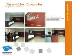Diseño y producción áreas de recepción en oficinas