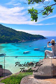 Ihr möchtet nach Thailand reisen, seid euch jedoch unsicher, was ihr vor Ort überhaupt alles benötigen werdet? Mit meiner praktischen Packliste für Thailand zum Abspeichern, Ausdrucken und Abhaken habt ihr auf eurer Reise garantiert alles Wichtige dabei, ohne unnötigen Ballast mit euch herumzuschleppen. Außerdem helfe ich euch bei der Wahl des Backpacks. #thailand #packing #travel #backpacking #tipps