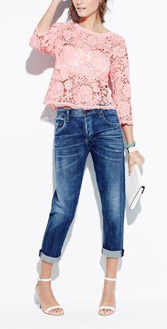 jeans + renda