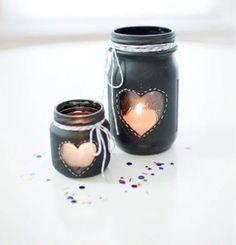 DIY Heart mason jar