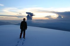 In top of Chimborazo montain, Ecuador