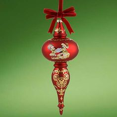 Your WDW Store - Disney Christmas Ornament - Victorian Mickey Mouse Finial